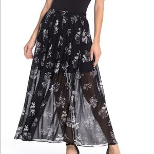 Free People black/white maxi skirt